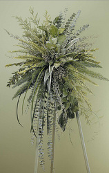 Standing spray of natural greenery and dried natural product from Bunn Flowers & Gifts, local florist in Pittsburg, TX