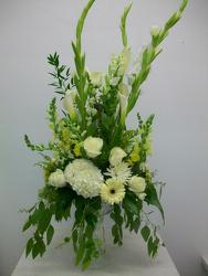 Elegant table arrangement  from Bunn Flowers & Gifts, local florist in Pittsburg, TX
