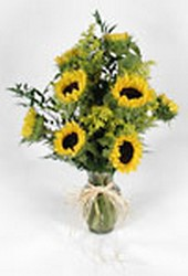 Vase of sunflowers from Bunn Flowers & Gifts, local florist in Pittsburg, TX
