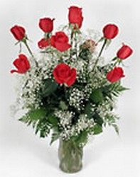 Dozen red roses from Bunn Flowers & Gifts, local florist in Pittsburg, TX