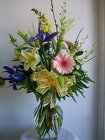 Mixed Vase Arrangement in Pastel Spring Colors