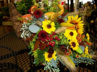 Thanksgiving Table Arrangement from Bunn Flowers & Gifts, local florist in Pittsburg, TX